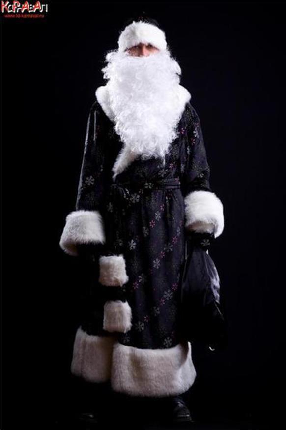 дед мороз в черно-белых картинках